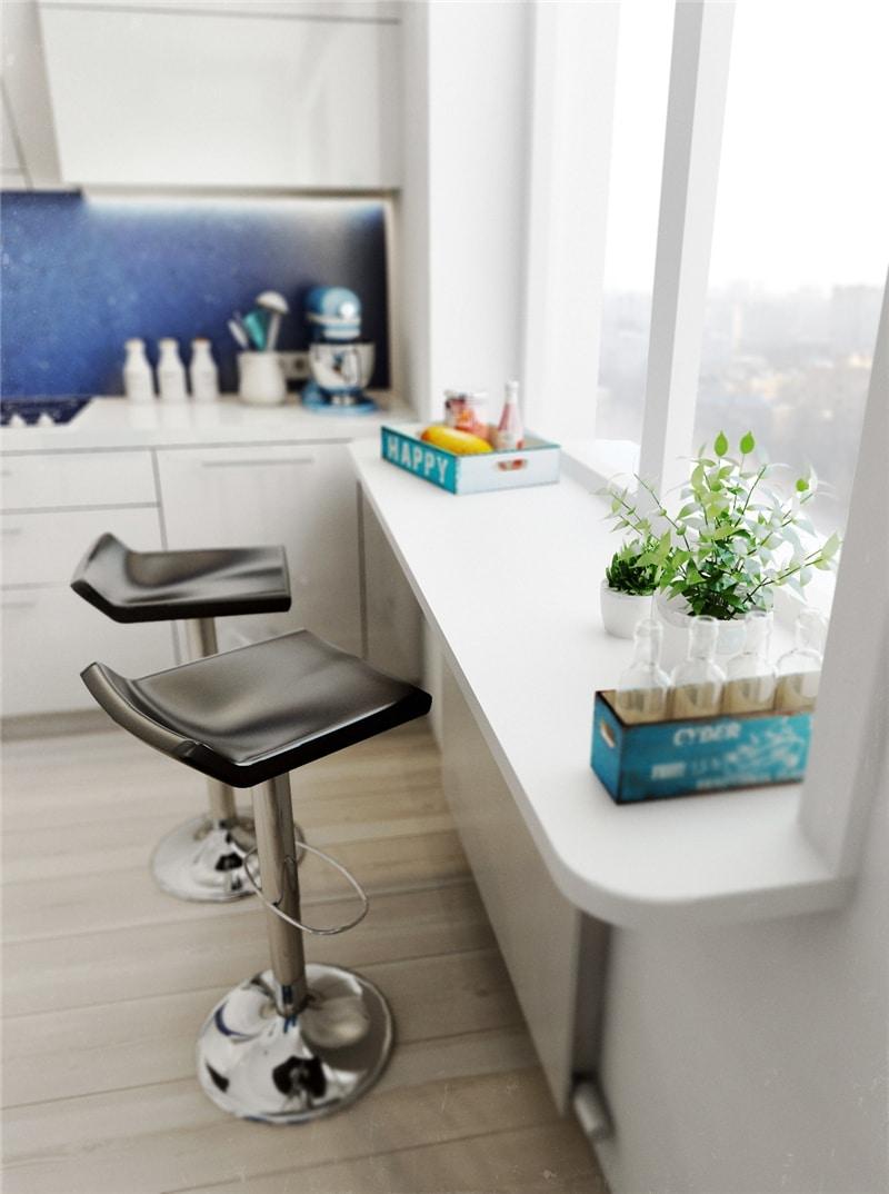 Картинки по запросу стол объединенный с подоконником