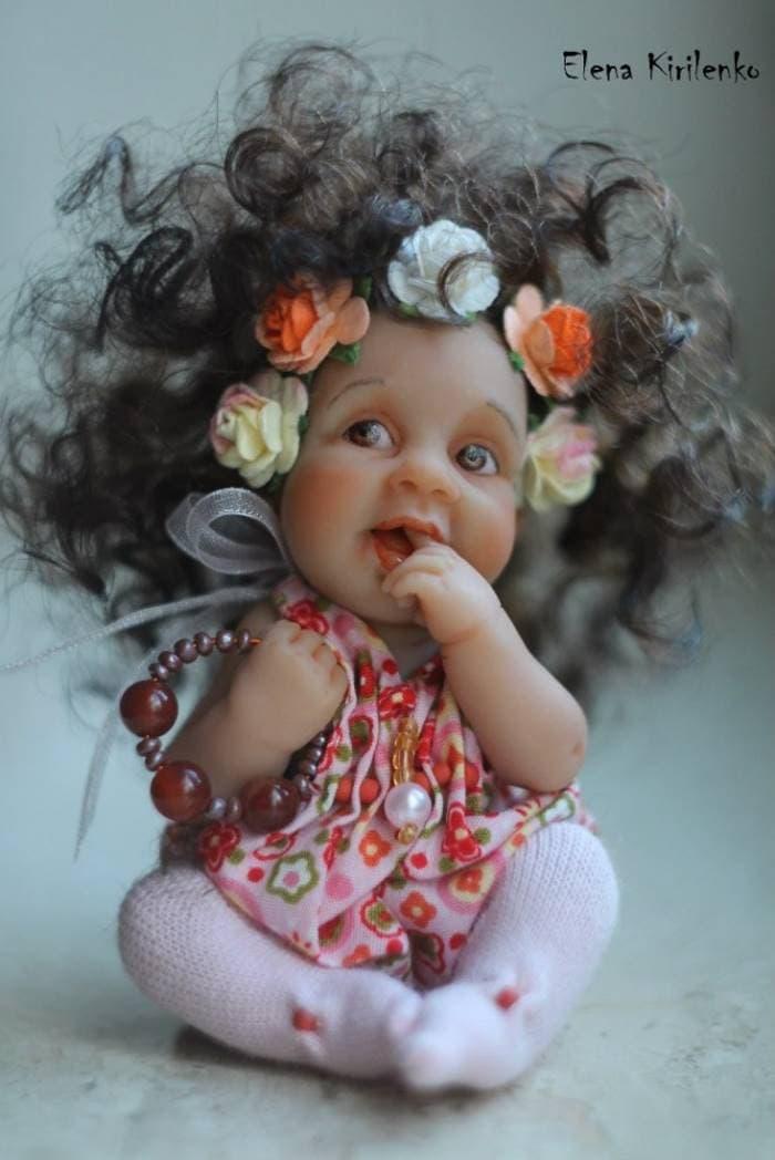 Эти маленькие, но безумно симпатичные куклы от Елены Кириленко