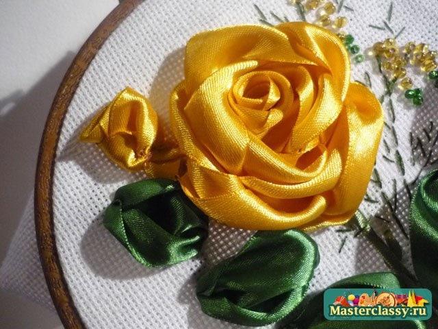 Мастер класс по вышивке лентами роз