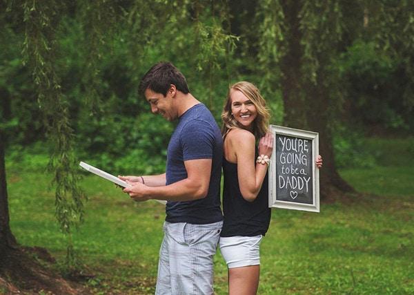 Жена довела мужа до слез, неожиданно сообщив ему о своей беременности во время фотосессии длиннопост, Беременная, сюрприз, фотосессия, Дети, история