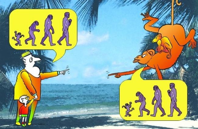 15 сатирических иллюстраций про эволюцию