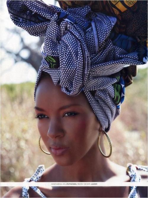 African hair wrap ..