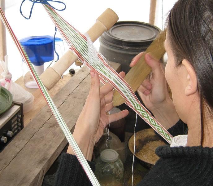 ткачество на картонке