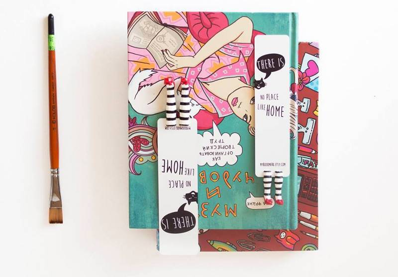 How Elena Misnyk opened an online store of unusual bookmarks for