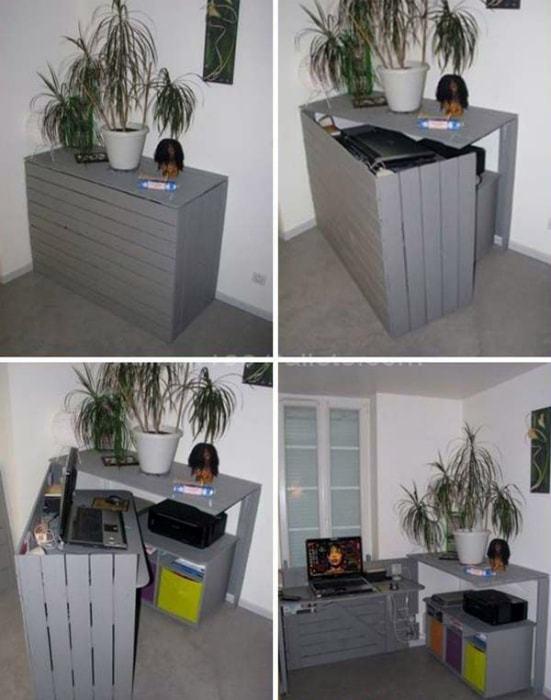 Homemade transforming cabinet.