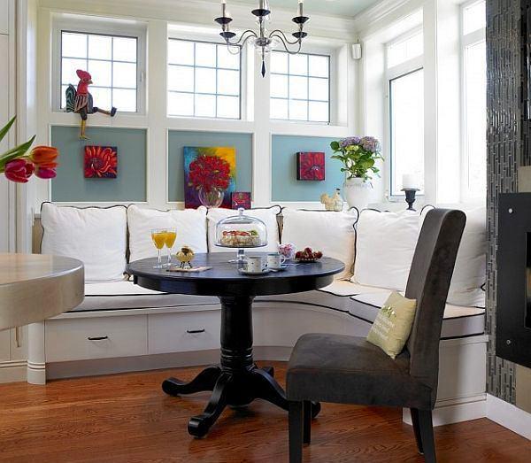 Кухня в цветах: черный, серый, белый, коричневый. Кухня в стиле эклектика.