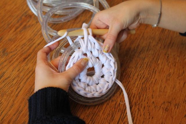 как связать коврик крючком своими руками