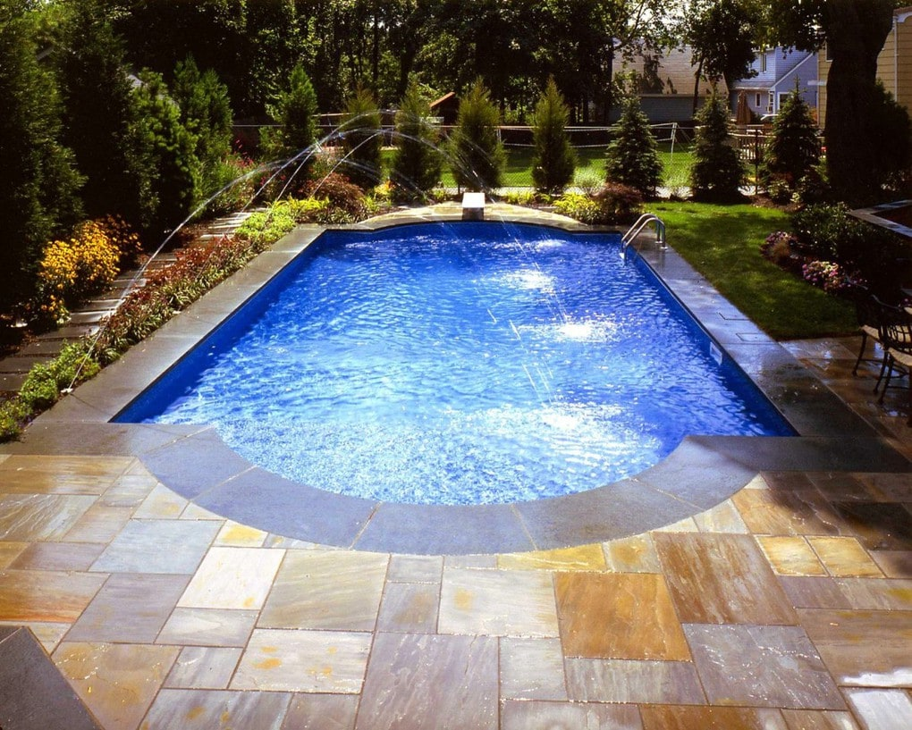 Бассейн, баня, сауна в цветах: голубой, серый, светло-серый, темно-зеленый, бежевый. Бассейн, баня, сауна в стиле минимализм.