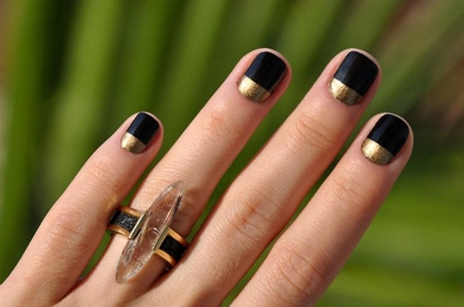 gold and black lacquer