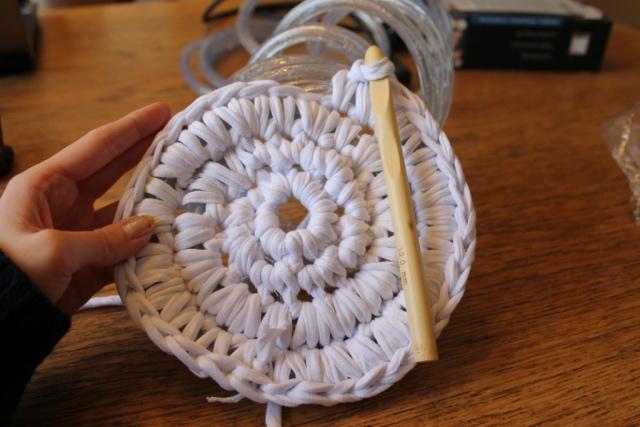 круглый коврик крючком для начинающих