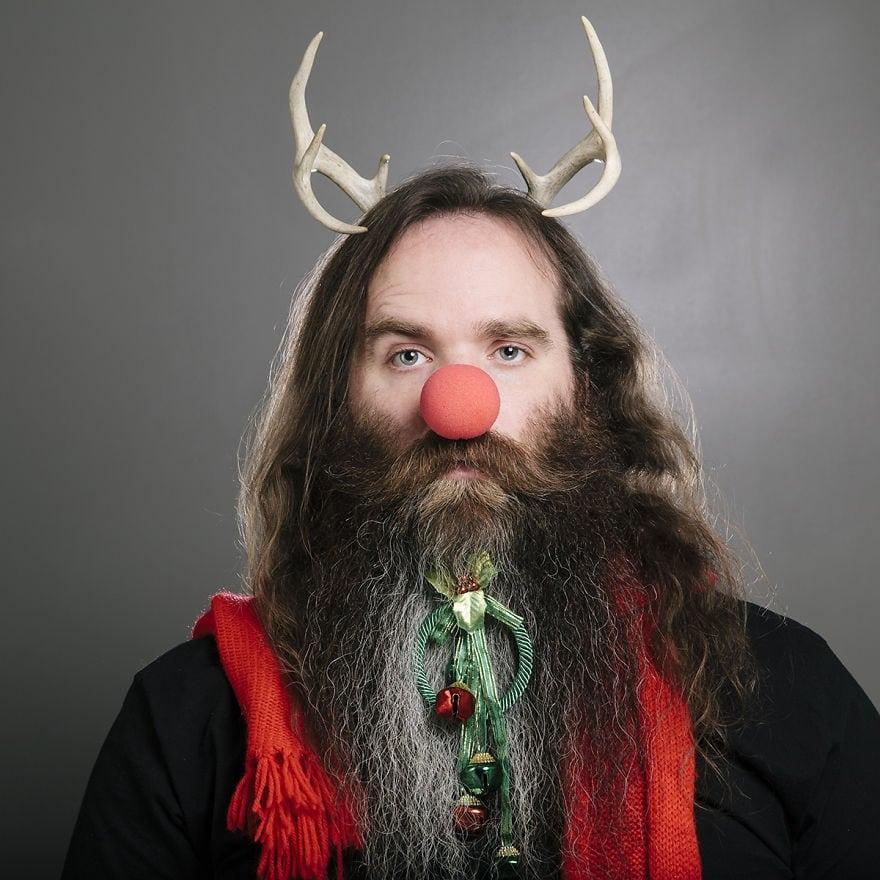 Рождественские украшения для бороды – новый модный тренд борода, новый год, украшение