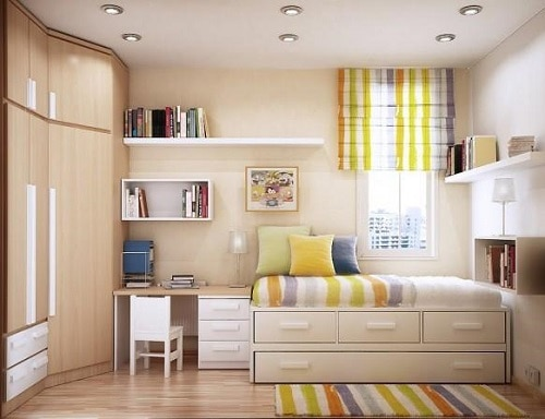 room in pastel colors