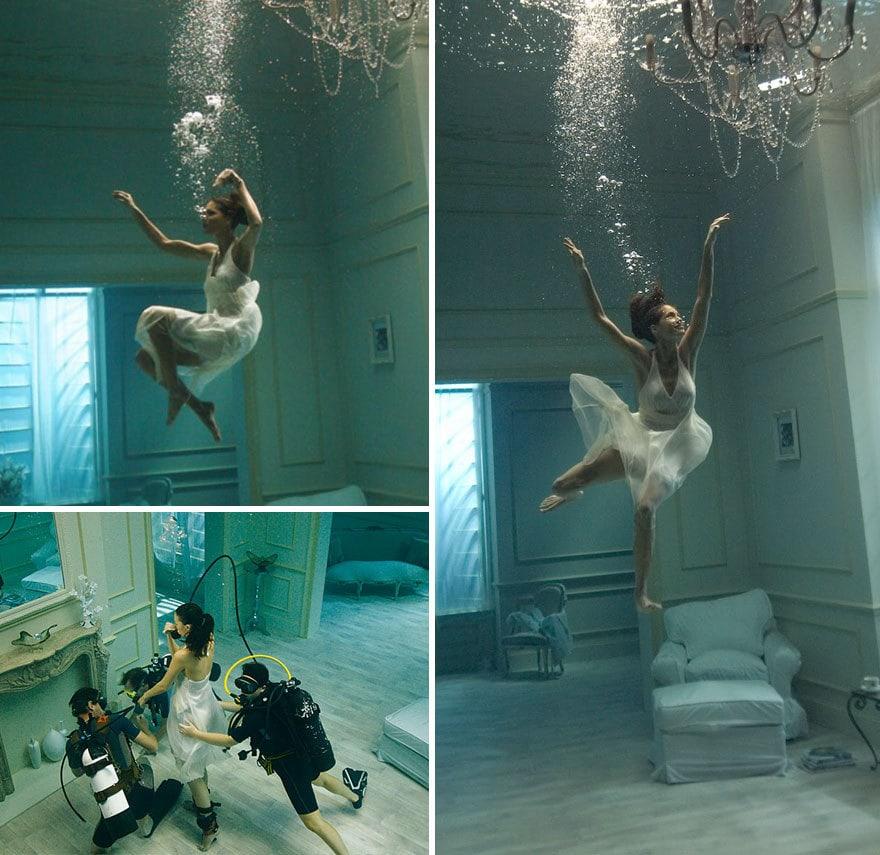 underwater shooting