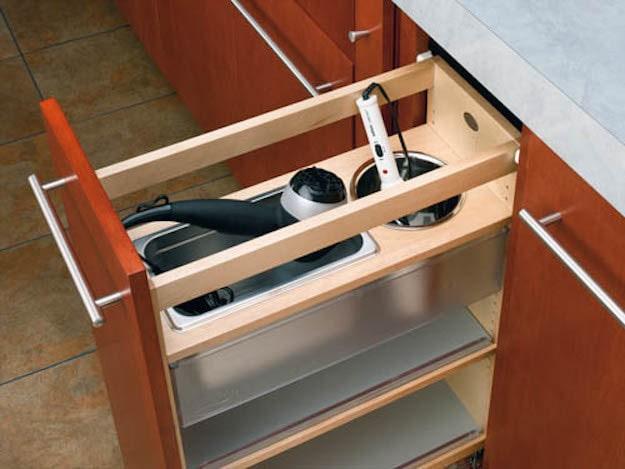12. Выдвижной ящик для различных приборов кухня, хранения