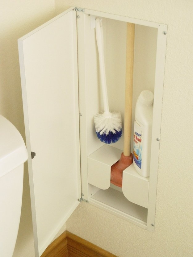 17. Встроенный в стену шкаф кухня, хранения