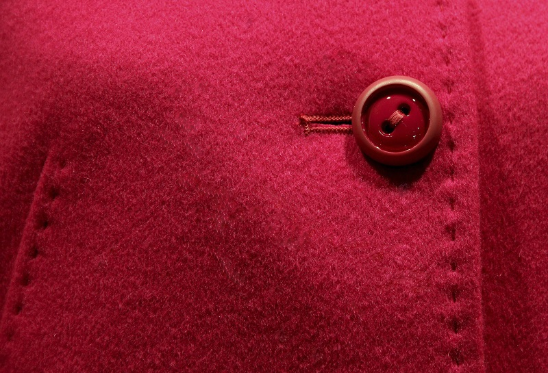 a button on a coat
