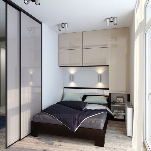 Use the space above the bed
