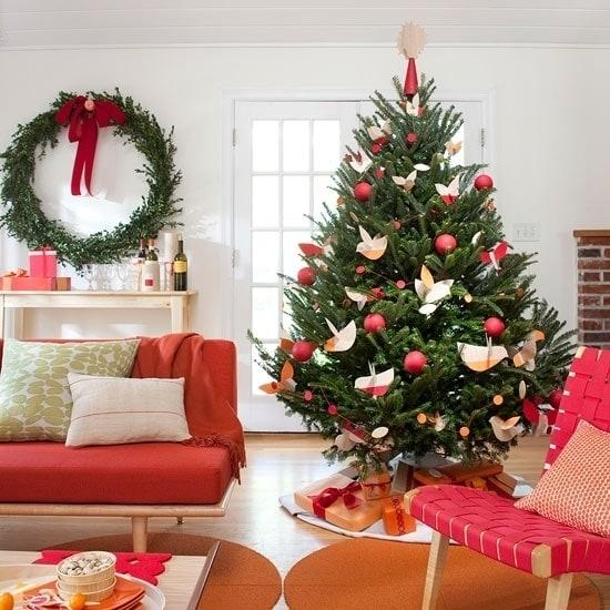 Новогодняя елка в ретро-стиле