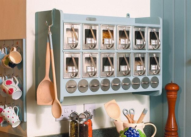 10. Небольшой шкафчик с ящиками для специй кухня, хранения