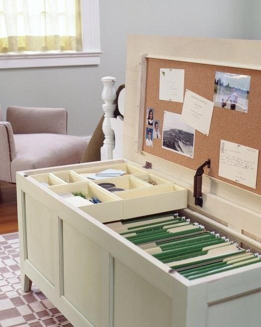 33. Переоборудуйте лежанку или комод в картотечный шкаф кухня, хранения