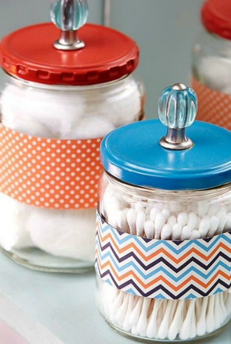 Containers for ear sticks and cotton pads.