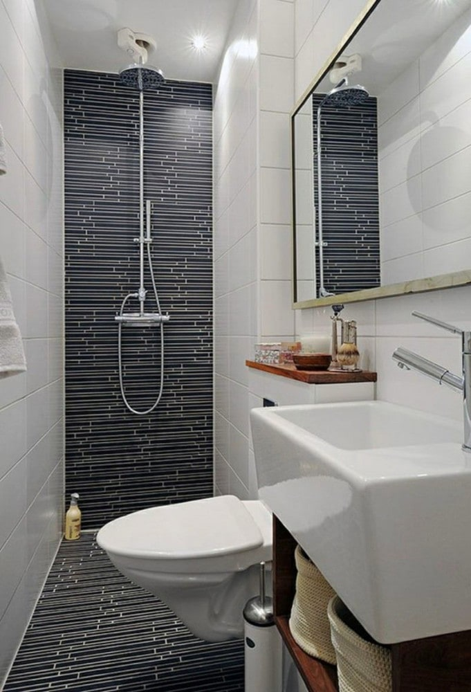 Туалет в цветах: черный, серый, белый, темно-коричневый. Туалет в .
