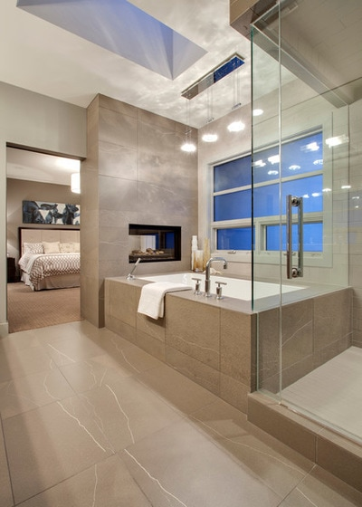 Modern Bathroom by DEKORA Staging Inc