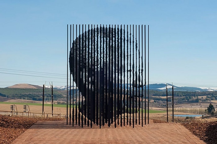 Monument to Nelson Mandela - one of the most famous activists in the fight for human rights.