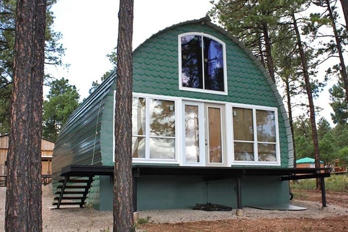 Арочный дом - альтернатива дорогим постройкам.