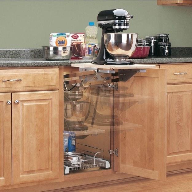 2. Подъемная полка кухня, хранения