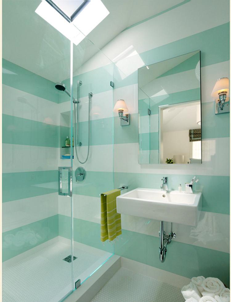 Туалет в цветах: бирюзовый, светло-серый, салатовый, сине-зеленый. Туалет в .