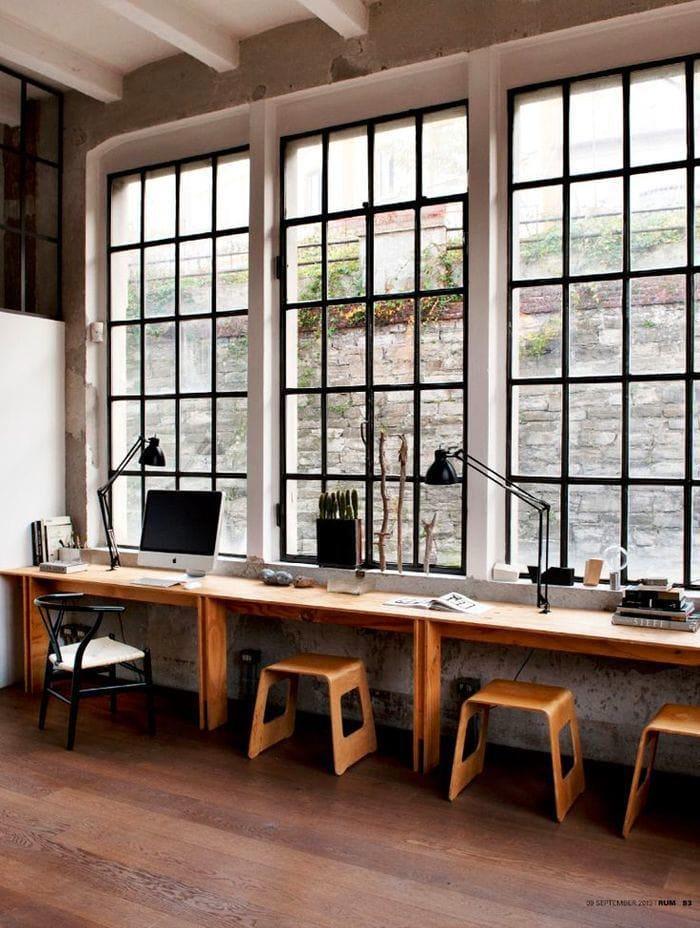 Офис в цветах: черный, серый, светло-серый, белый. Офис в .