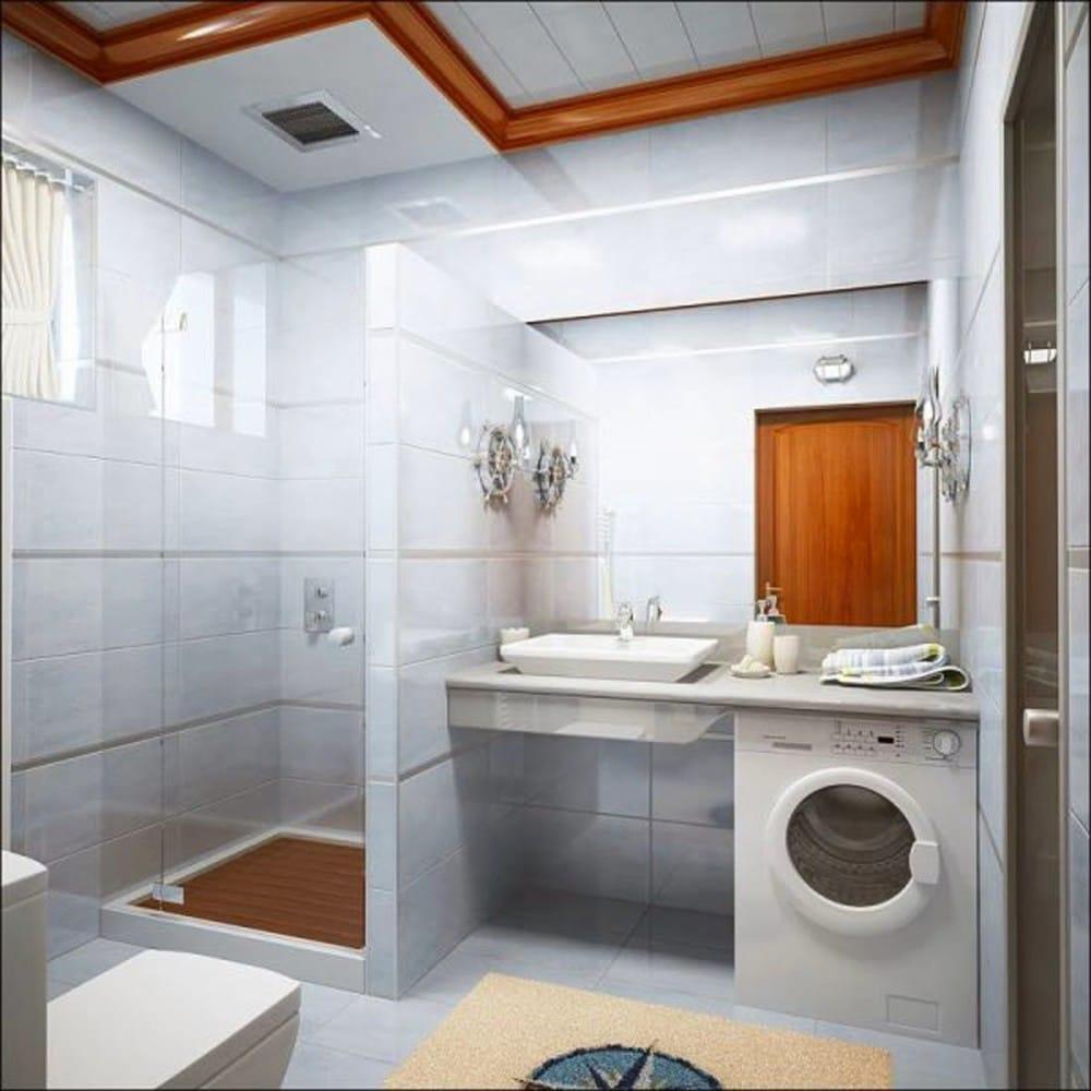Ванная в цветах: серый, белый, бордовый, коричневый. Ванная в .