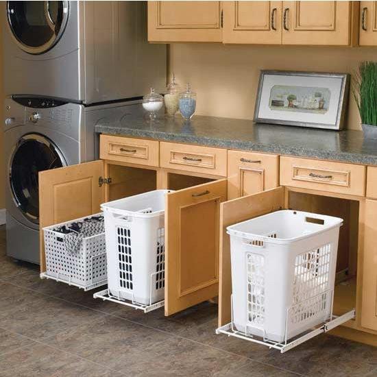 18. Ящики с выдвижными креплениями для корзин кухня, хранения