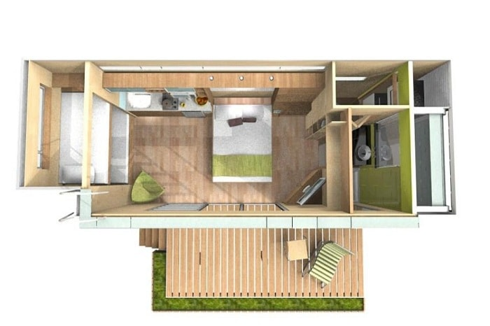 The project of the house from the company Cubica.