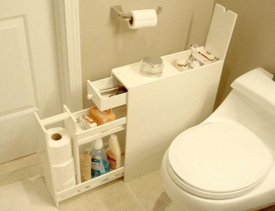 16. Узкий комод для туалета кухня, хранения
