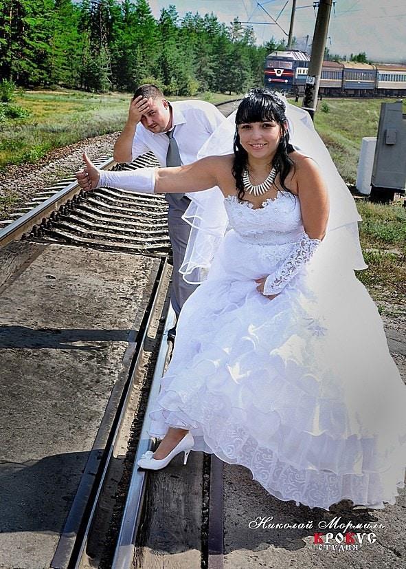 Постой..паровоз :) свадьба, фото, юмор