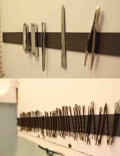 14. Магнитная лента для ножниц, пинцетов и прочего кухня, хранения