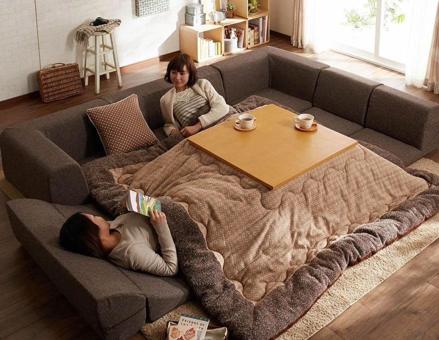 котацу - японское изобретение для кровати