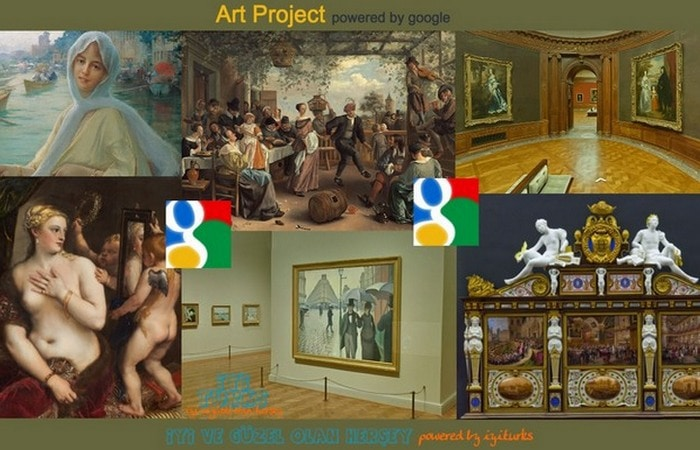 It is possible to view works of art in high resolution and detail.