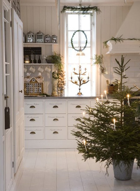 Photo: Country style kitchen and dining room, Interior decor, Accessories, Holiday, Interior color, New Year - photos on InMyRoom.ru