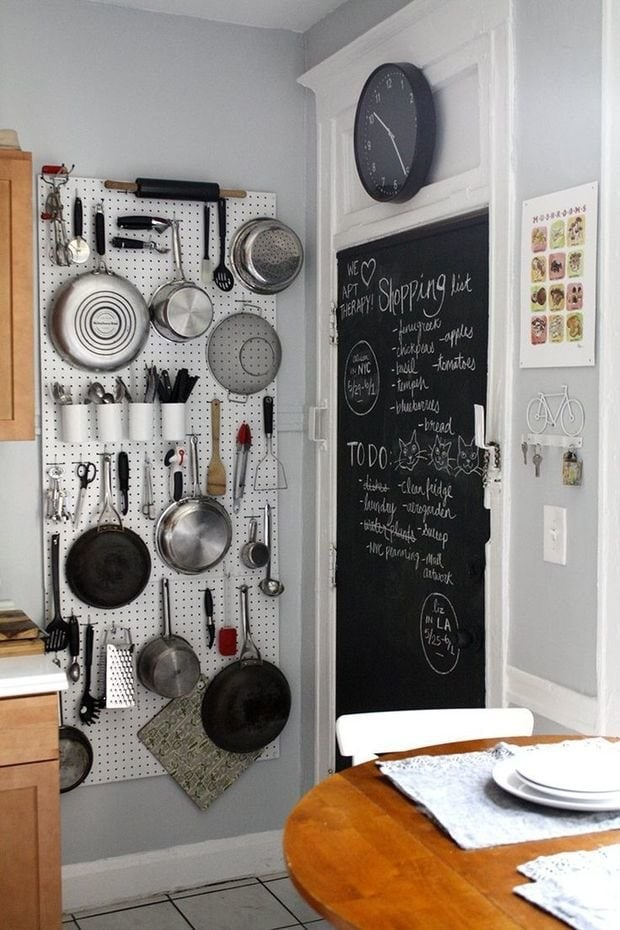 Photo: Country-style kitchen and dining room, Loft, DIY, Small-sized apartment, Apartment, Tips - photos on InMyRoom.ru