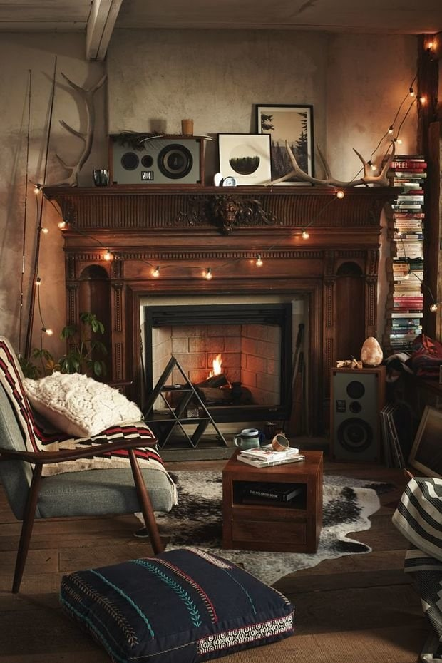 Photo: Country-style living room, Interior decor, Accessories, Holiday, Interior color, New Year - photos on InMyRoom.ru