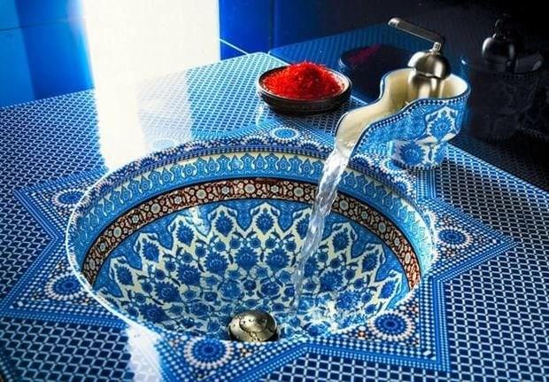 Фотография: Ванная в стиле Восточный, Декор интерьера, Квартира, Декор, Советы, раковина, раковина в ванной – фото на InMyRoom.ru