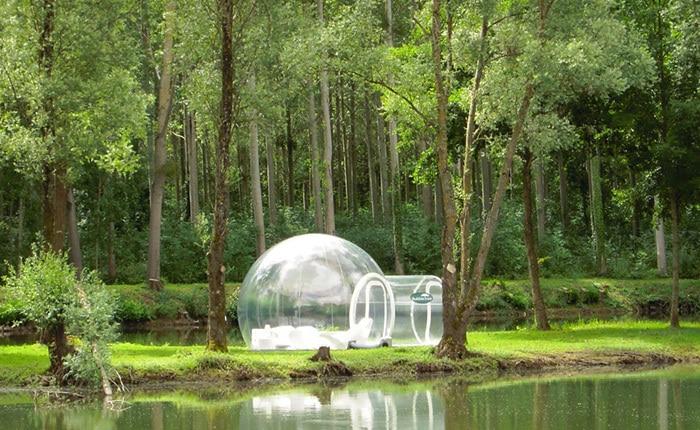 прозрачная палатка