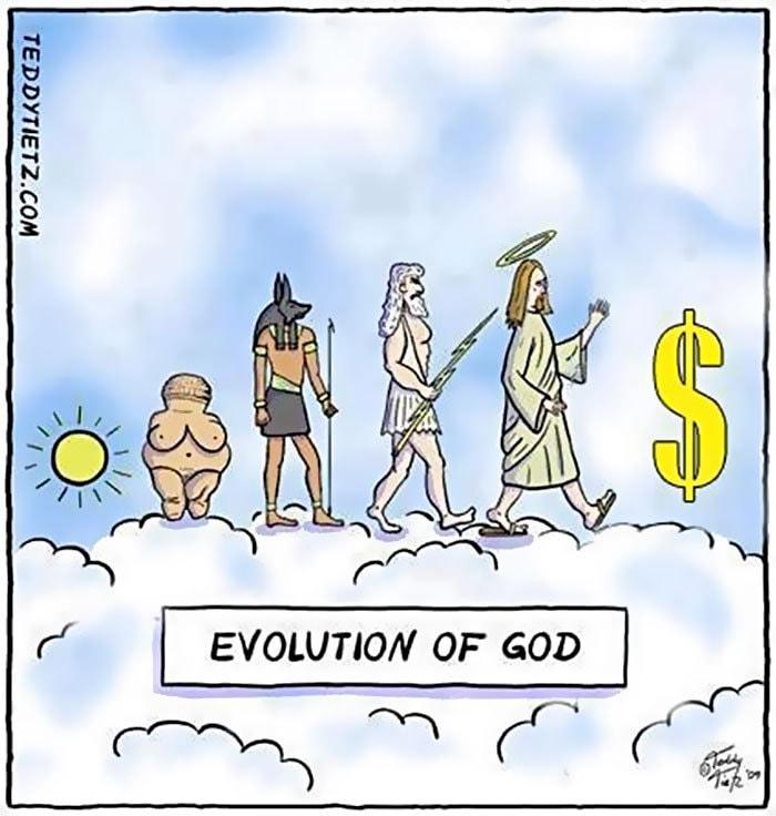 сатирические карикатуры про эволюцию