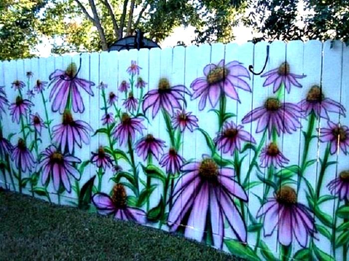 Как разрисовать забор на даче своими руками