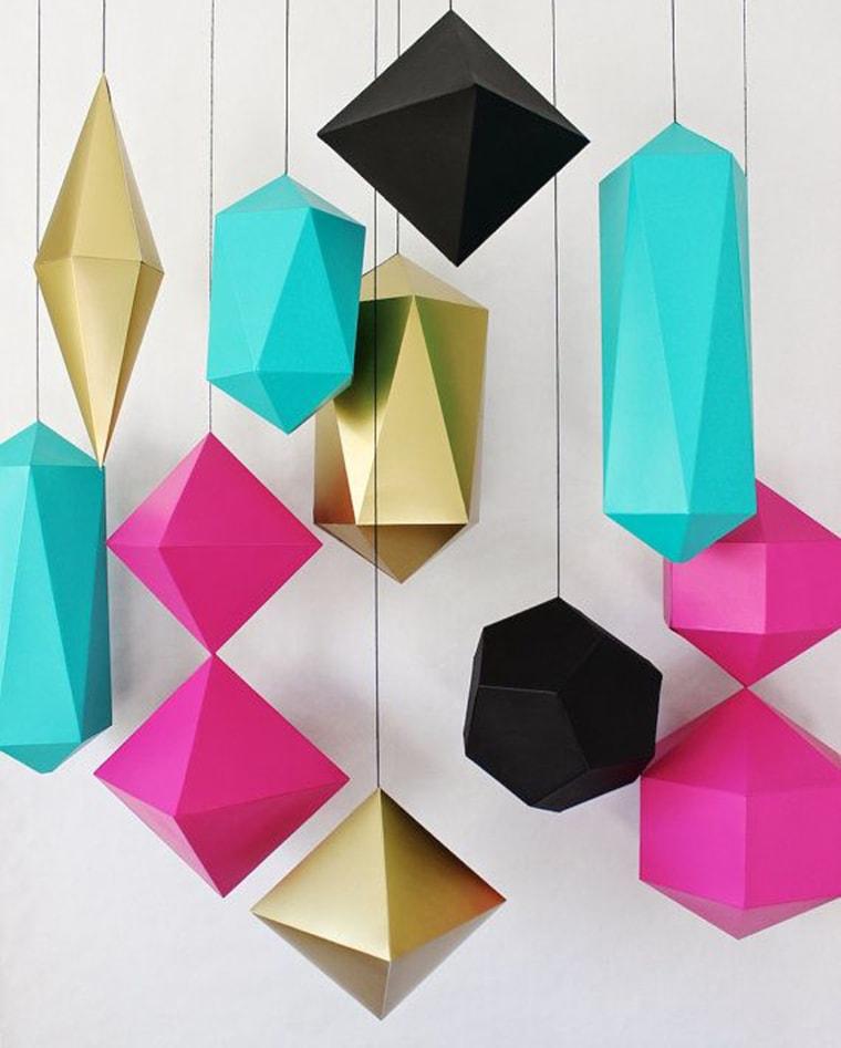 Геометрические фигуры из бумаги как их сделать