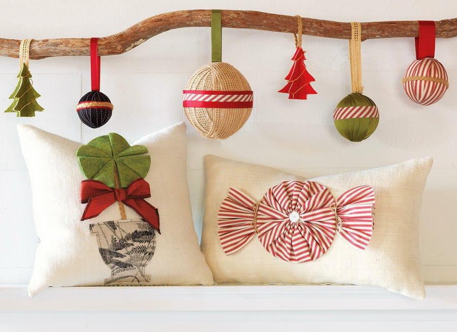 Декоративные новогодние украшения своими руками