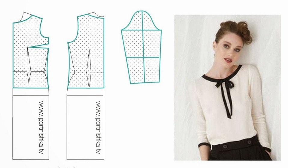 Сшить блузку с длинными рукавами своими руками